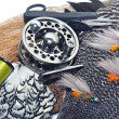 Foto Stock: Fly fishing tackle