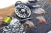 Fly fishing tackle — Stock Photo