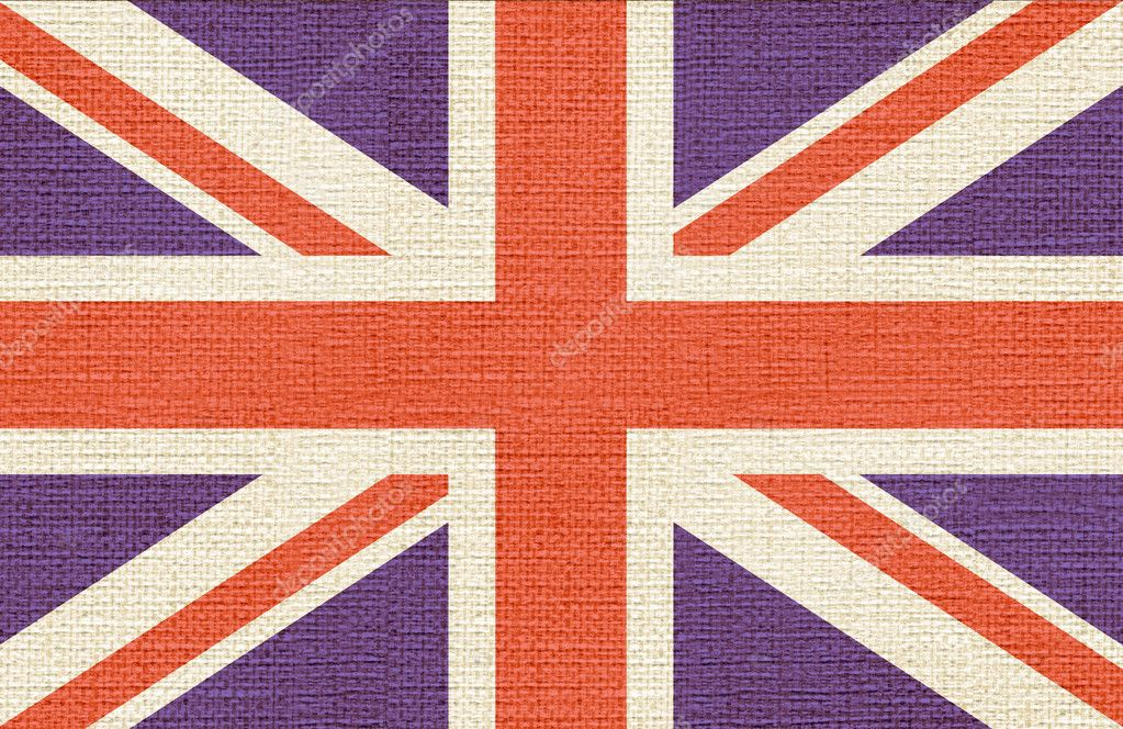 United kingdom canvas styled flag — Stock Photo #4169994