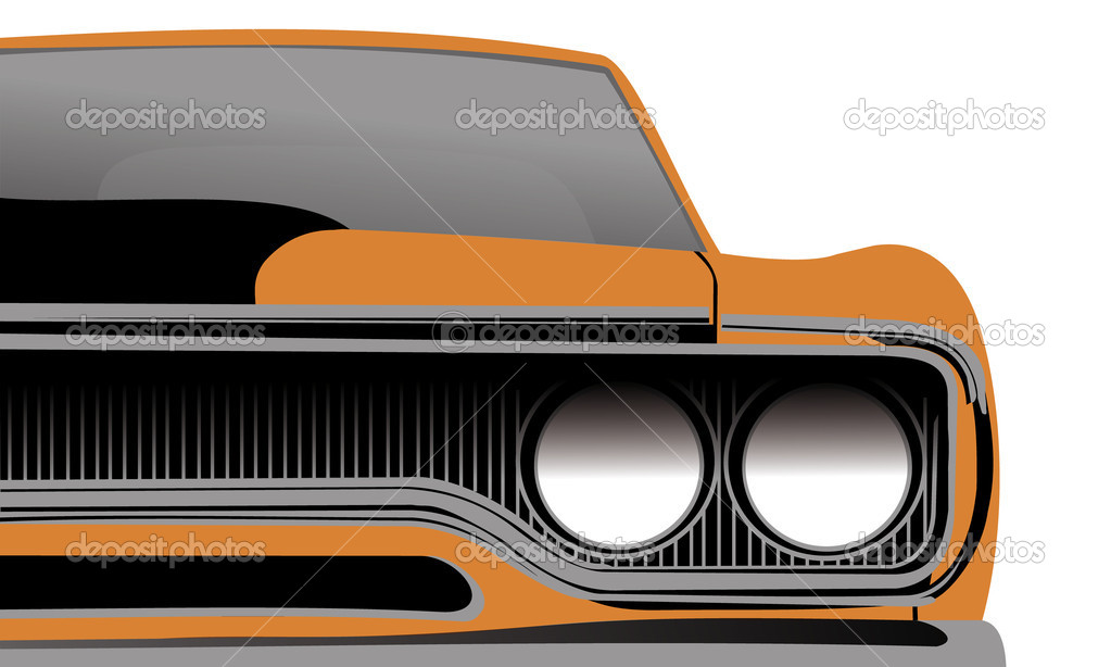 Traditional no name american muscle car — Stock Vector #4174698