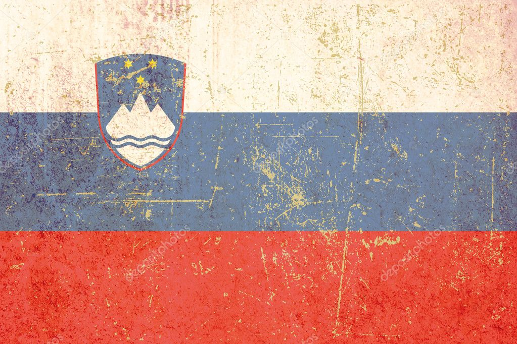 Grunge flag of slovenia — Stock Photo #4234833