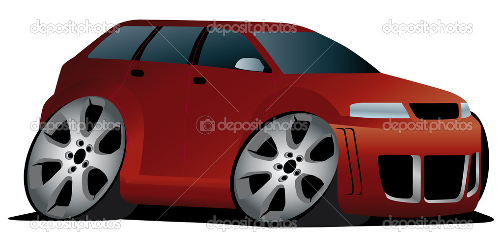 Vector illustration of a cartoon styled station wagon — Stock Vector #4293441