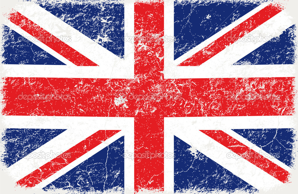 Vector grunge styled flag of graet britain   Stok Vektr #5287783