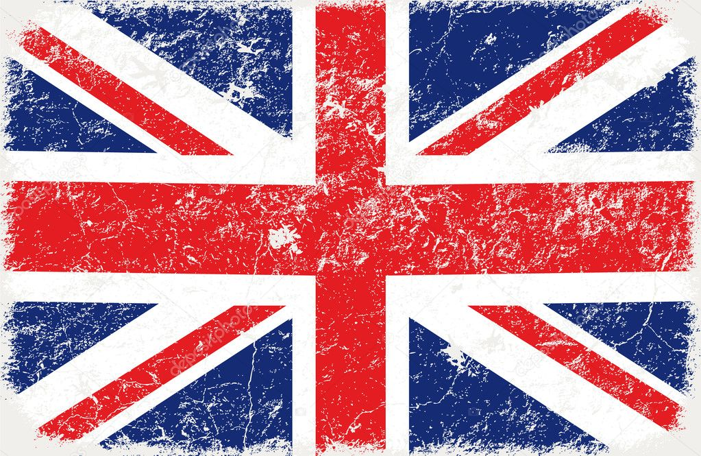 Vector grunge styled flag of graet britain  — Stockvectorbeeld #5287783