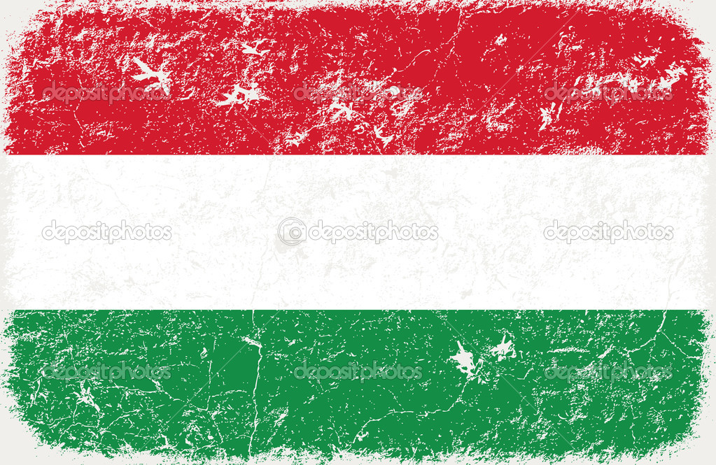 Vector grunge styled flag of hungary — Stock Vector #5305315