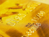 Golden Credit Card — Stock Photo