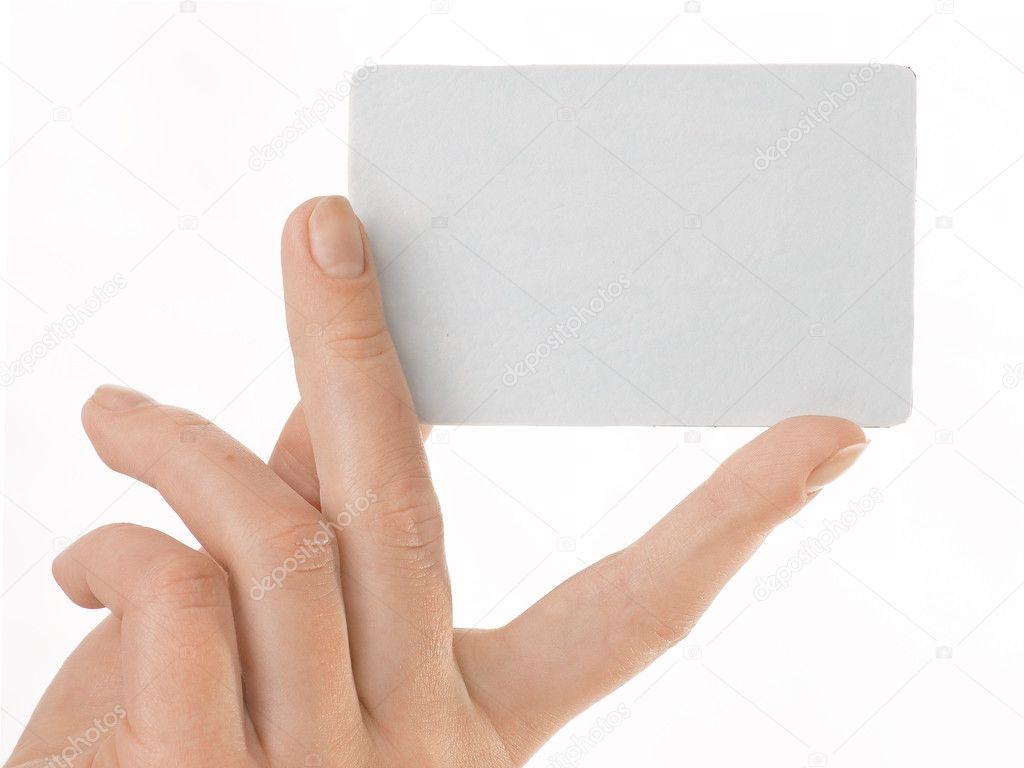 Blank business card — Stock © goga