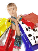 Here is all my shopping — Stock Photo