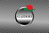 Fond d'écran de carbone — Vecteur