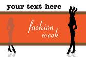 Fashion silhouettes — Stock Vector