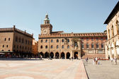Central square of Bologna — Stock Photo