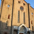 Facade of old church from Bologna - Stock Photo