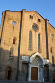 Facade of old church from Bologna — Foto Stock