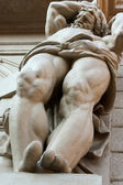 Scene with marble sculpture from streets of Bologna, Italy — Stock Photo