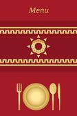 Cover for restaurant's — Stock Vector