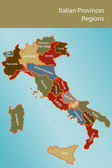 Mapa de italiakaart van italië — Stockvector