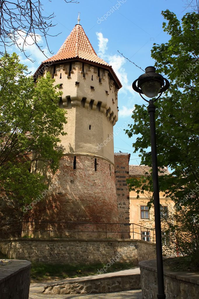 Medieval tower from old part of Sibiu city.  Stock Photo #4295184