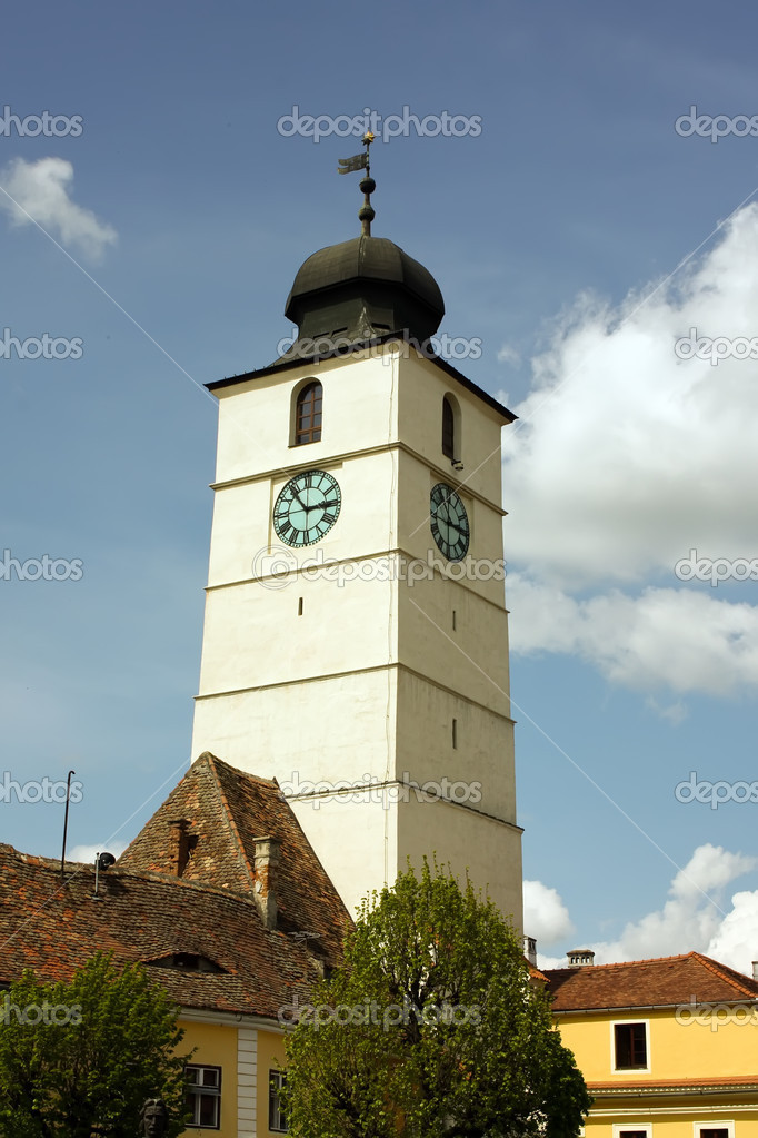 Beautiful tower bell from Sibiu. European Capital of Culture in 2007 — Stock Photo #4295190