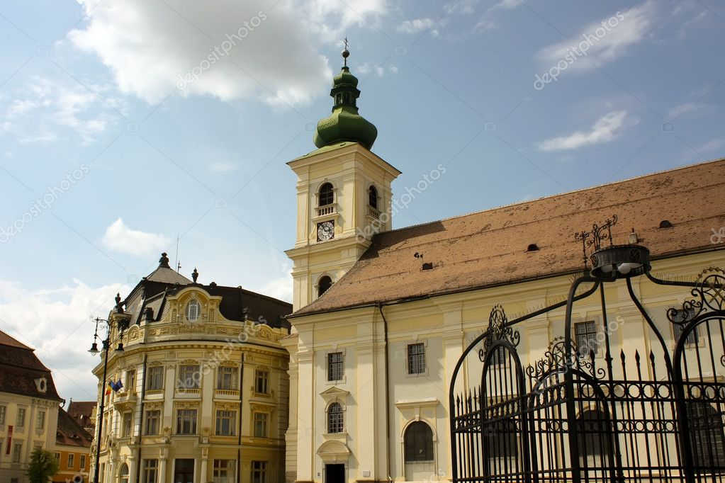 Beautiful tower bell from Sibiu. European Capital of Culture in 2007 — Stock Photo #4295191