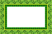 Frame of green leaves — Vector de stock