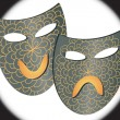Masks representing comedy and drama — Imagen vectorial