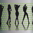 Woman silhouettes - Imagen vectorial