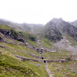 Stock Photo: View of Transfagarsroad from Fagaras mountains