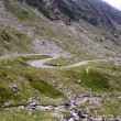 Difficult road of Transfgarasan from Romania — Stock Photo