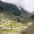 Stockfoto: View with adventurous road of Transfagarasan