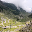 View with adventurous road of Transfagarasan — ストック写真