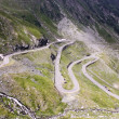 View with adventurous road of Transfagarasan — Stockfoto