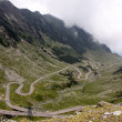 dangerous road of transfagarasan route mountain — Stock Photo