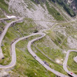 View with adventurous road of Transfagarasan - Stock Photo