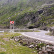 Stock Photo: Dangerous curve of road from Transfagarasan