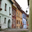 Foto de Stock  : Street scene from old part of Sighisoara