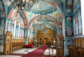 Scene in interior of Orthodox church from Sambata — Stock Photo