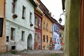 Street scene from old part of Sighisoara — Stock Photo