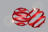 3d yuvarlatılmış şekiller — Stok Vektör