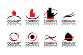 Compañía insignia — Vector de stock