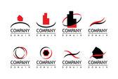 ロゴの会社 — ストックベクタ