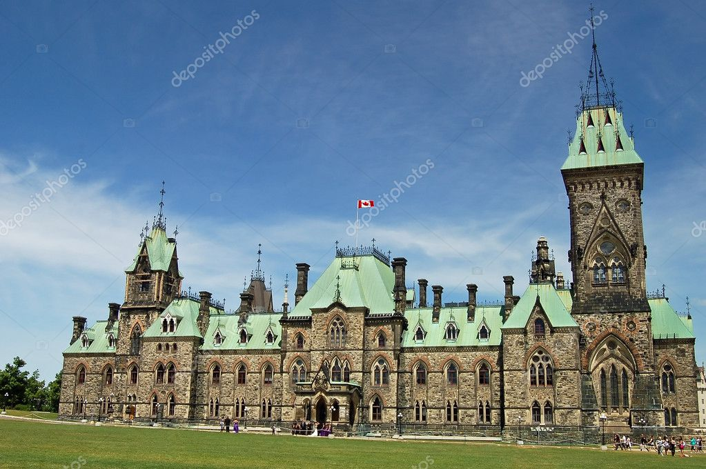 The East Block contains many senators' offices, as well as some rooms re-created in the style of the early years of Confederation.  Stock Photo #4791652