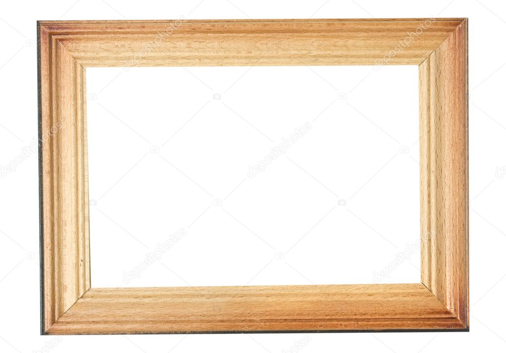isolated wooden frame on a white background — Stock Photo #4225282