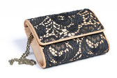 Fashionable ladies' small hand bag — Stock Photo