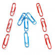 Stock Photo: Paper clips isolated on white