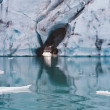 Stock Photo: Tunnel in iceberg