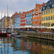 Nyhavn harbour - Stock Photo