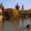Vltava and Charles Bridge — 图库照片