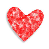 Red and white heart — Stock Photo