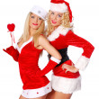Smily christmas girls — Stock Photo #4326525