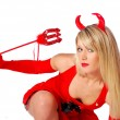 Portrait of a sexy devil - Stock Photo
